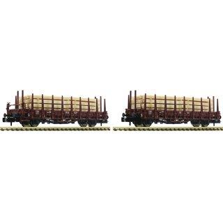 881907 - 2-tlg. Set: Rungenwagen mit Beladung, DB