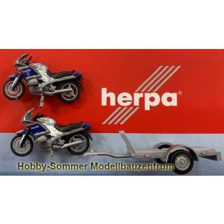 Herpa 940030 Set Anhänger mit 2x BMW Polizei Österreich