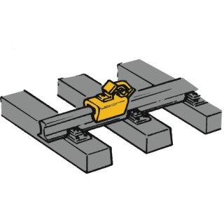 40004 - Hemmschuhe 12 Stk. gelb H0